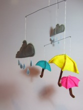 April Showers Mobile by Ena Green Designs