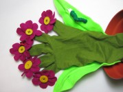 Flower Pot Glove Puppet by Ena Green Designs