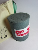 Can of Worms Glove Puppet by Ena green Designs