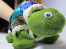 Terrance the tortoise Glove Puppet by Ena Green Designs