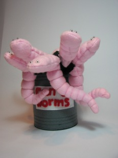 Can of Worms Glove Puppet by Ena Green Desigsn