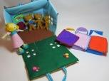 Goldilocks and The Three Bears Felt Playhouse by Ena Green Designs