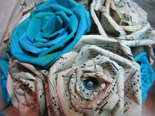 Sheet Music Flowers by Ena Green Designs
