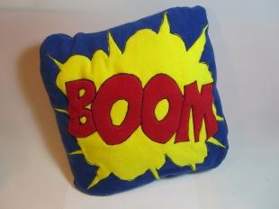 BOOM Fleecy Cushion by Ena Green Designs £20