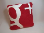 Google+ Fleecy Cushion by Ena Green Designs £20