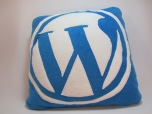 Wordpress Fleecy Cushion by Ena Green Designs £20
