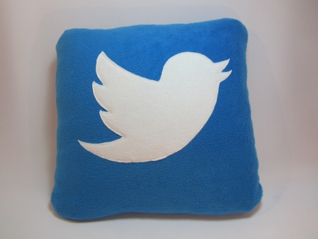 Twitter Fleecy Cushion by Ena Green Designs £20