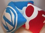 Twitter, Wordpress Google+ Fleecy Cushions by Ena Green Designs
