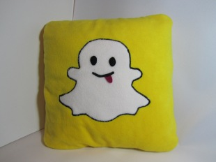 Snap Chat Fleecy Cushion by Ena Green Designs £20