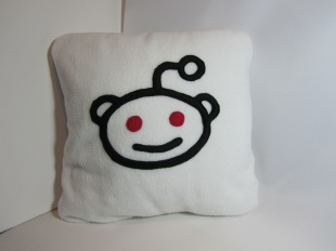 Reddit Fleecy Cushion by Ena Green Designs £20