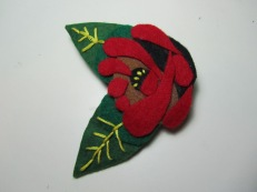 Canal Rose Felt Brooch by Ena Green Designs