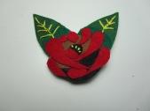 Canal Rose Felt Brooch by Ena Green Designs