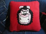 Gnasher Fleecy Cushion by Ena Green Designs £30