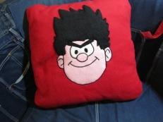 Dennis The Menace Fleecy Cushion by Ena Green Designs £30