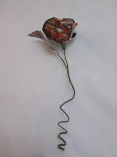 Single Comic Book Rose by Ena Green Designs £8