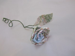 Single Map Rose by Ena Green Designs £8