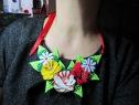 Canal Rose Felt Necklace