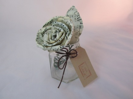 Sheet Music Paper Rose by Ena Green Designs