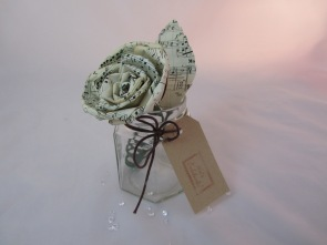 Sheet Music Paper Rose Table Decoration By Ena Green Designs