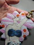 Fabric Mermaid Necklace by Ena Green