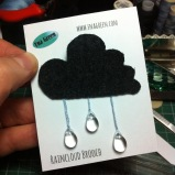 Fabric Cloud Brooch by Ena Green Designs