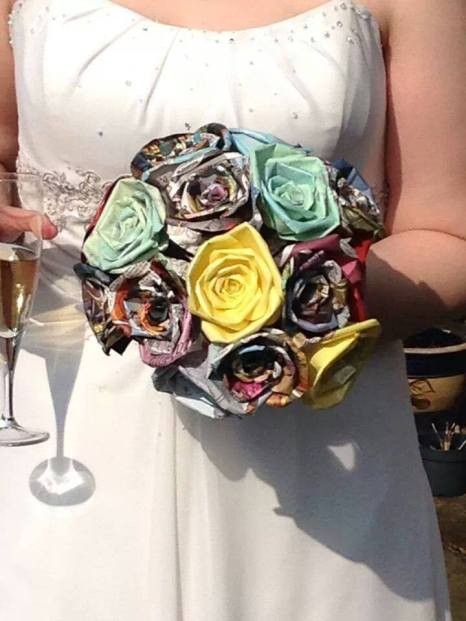 Graphic Novel Bouquet for Zoe by Ena Green Designs