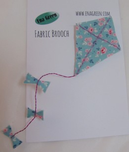Fabric Kite Brooch by Ena Green