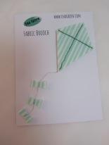 Fabric Kite Brooch by Ena Green
