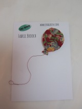 Fabric Balloon Brooch by Ena Green