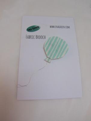 Fabric Balloon Brooch by Ena Green