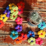 Crochet Flower Garland by Ena Green