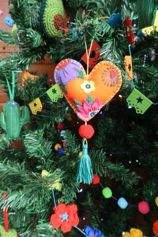 Orange Felt Heart by Ena Green